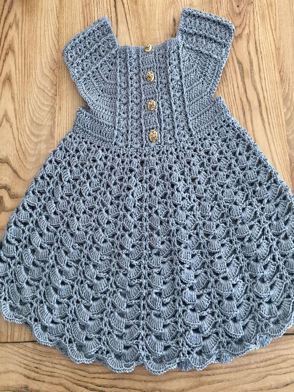 vestidos tejidos para bebe a crochet