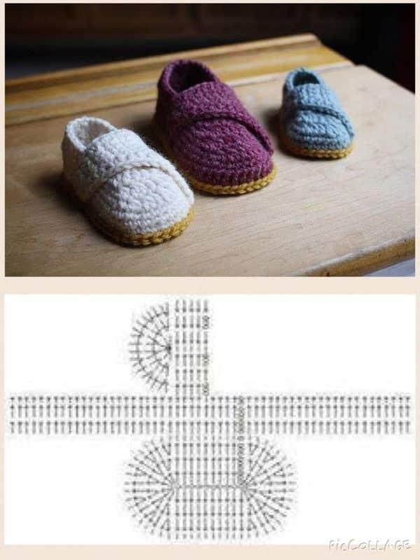 zapatos en crochet para bebe