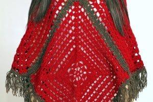 2 puntos de ponchos a crochet para damas
