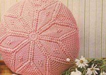 Almohadones a crochet redondos de 40 cm
