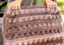 2 bolsas tejidas a crochet para dama
