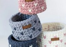 Canastos tejidos con totora de 30 cm