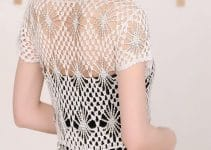 Cardigan a crochet para mujer en talla 7
