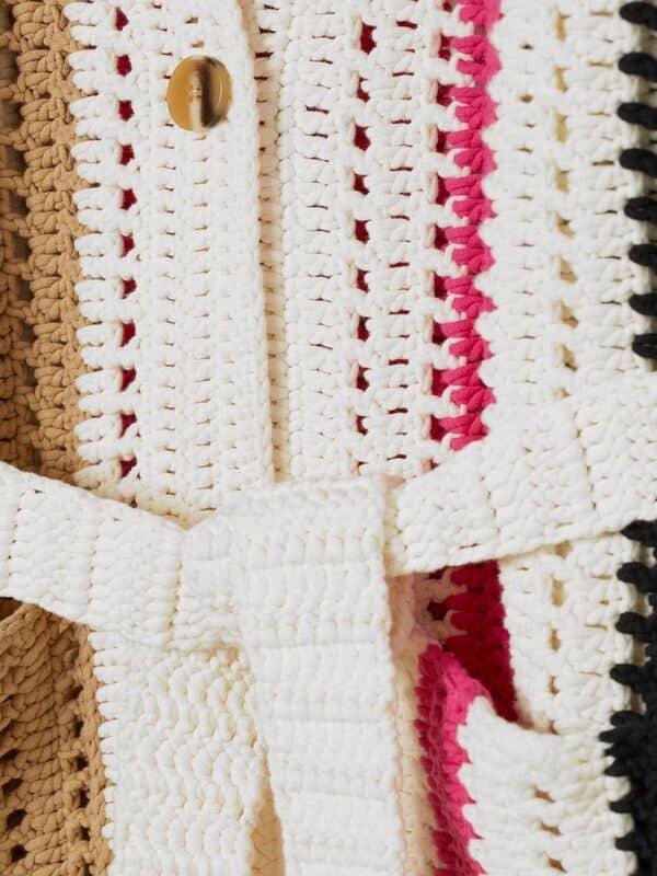 cardigan a crochet para mujer