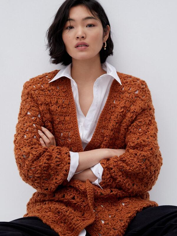 cardigan a crochet para mujer sencillo 1