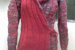 Chompas tejidas a lana en 2 puntos