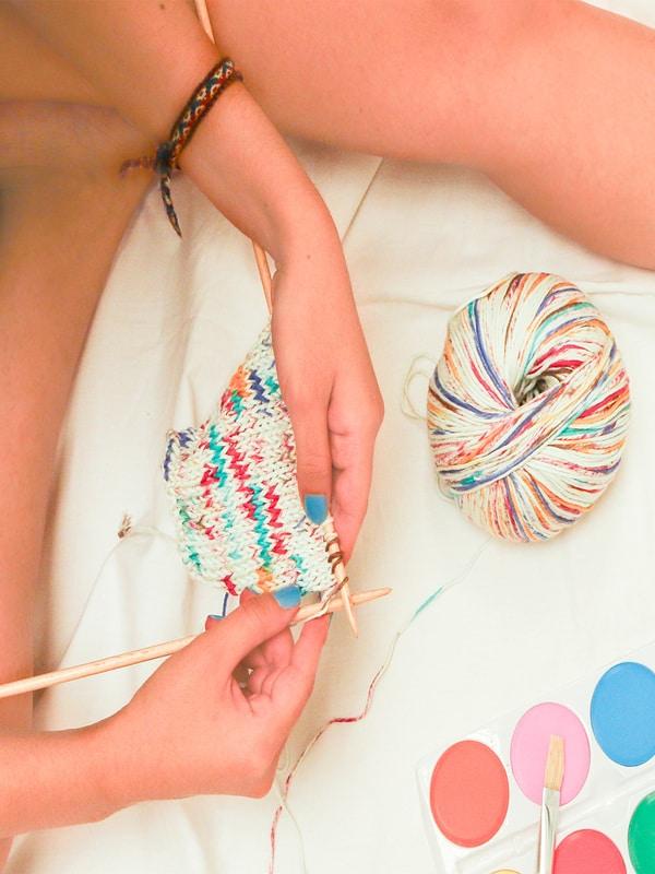 combinación de colores para tejer