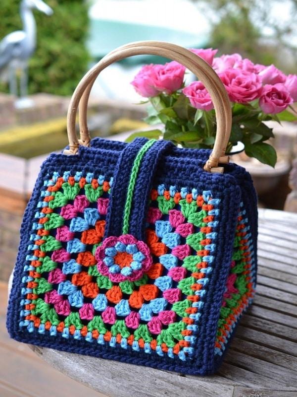 Bolsas tejidas a crochet para dama