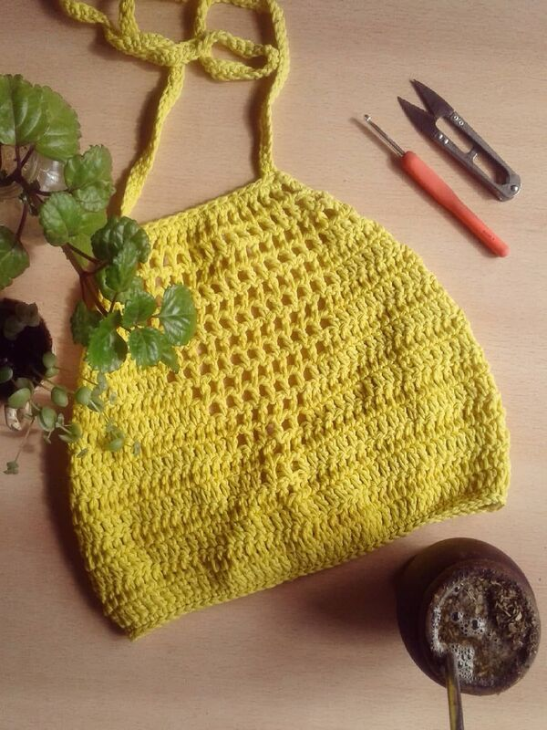 crop top tejido a crochet