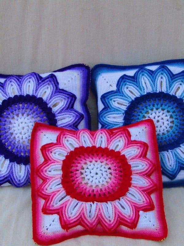 fundas tejidas para almohadas