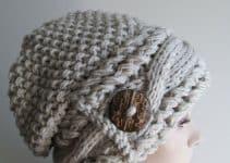 2 gorros a crochet para adultos