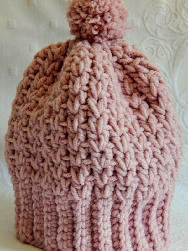 Gorros a crochet para adultos
