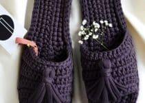 2 modelos de pantuflas tejidas paso a paso