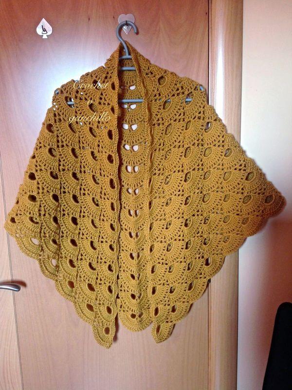 ponchos a crochet paso a paso