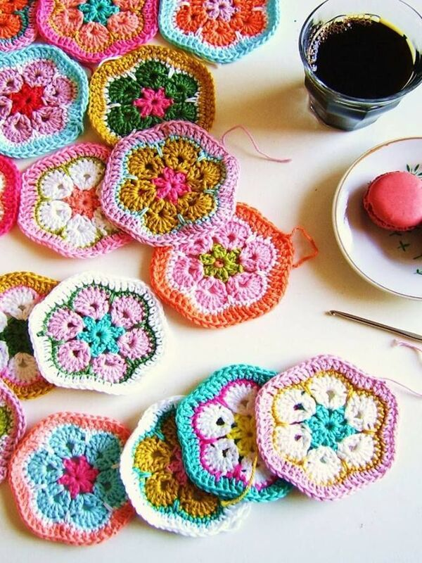 tejer flores a crochet paso a paso