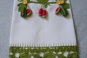 Toallas tejidas a crochet, de 30 cm