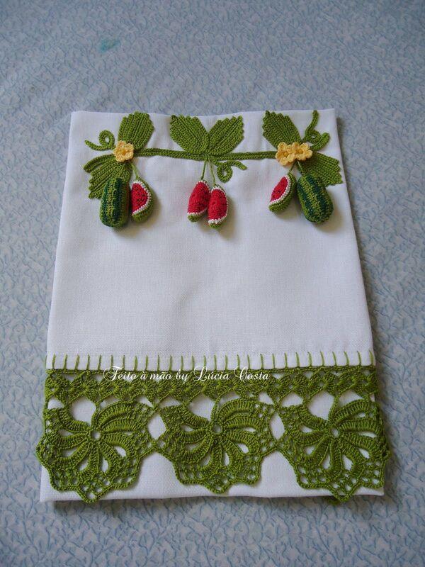 toallas tejidas a crochet para manos