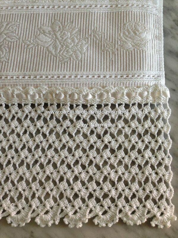 toallas tejidas a crochet