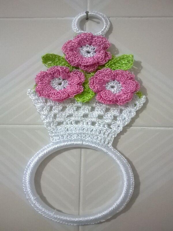 toallero tejido a crochet