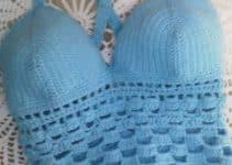 Tops tejidos a crochet en 2 puntos