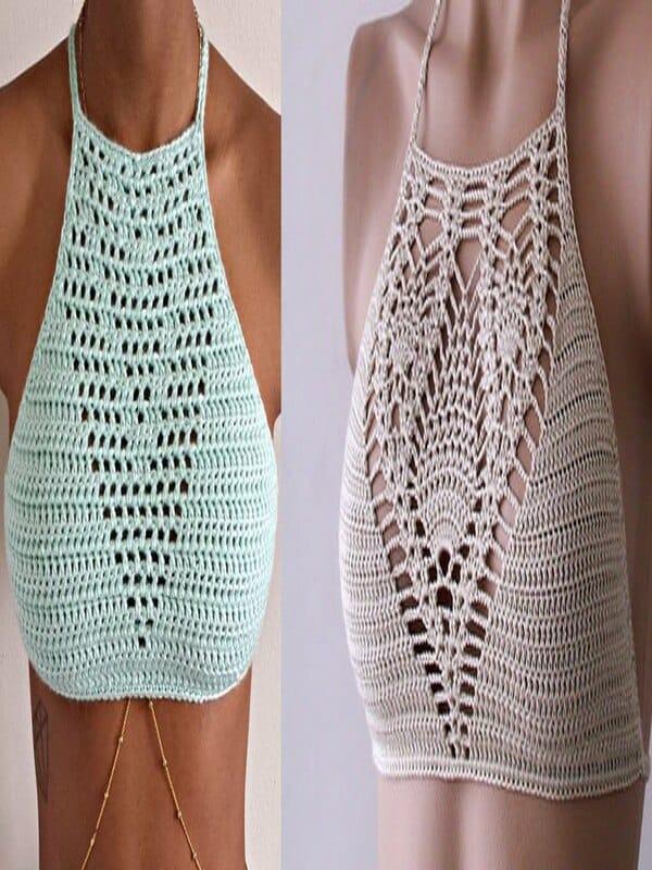 tops tejidos a crochet