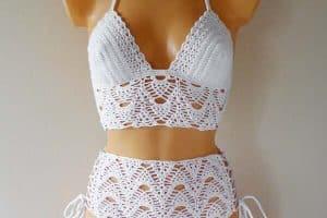 Vestidos de baño en crochet, a 2 piezas