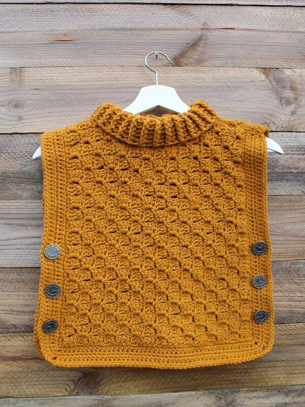 chalecos para niña a crochet modernos