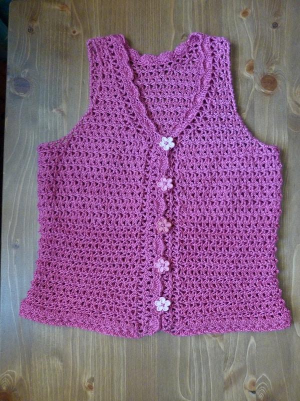 chalecos para niñas a crochet