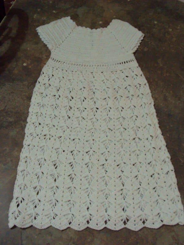 vestidos de bautizo a crochet paso a paso