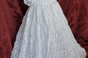 Vestido de bautizo a crochet de 3 meses a 1 año