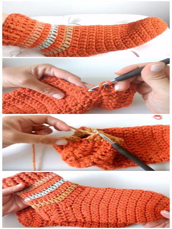 calcetines a crochet para adulto