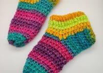 1 par de calcetines a crochet para adultos