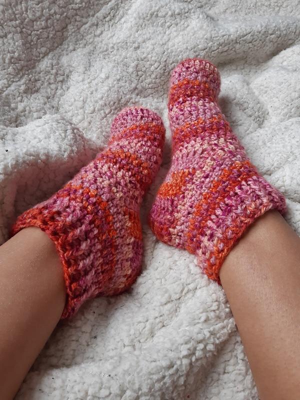 calcetines a crochet paso a paso