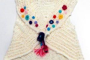 Chalecos para niña a crochet en talla 3 años