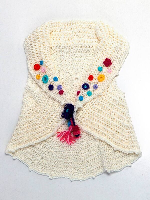 como tejer chalecos para niña a crochet