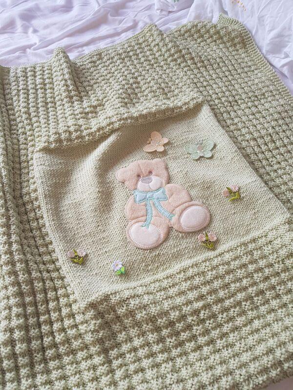 colchas tejidas a palitos para bebes materiales y primeros pasos