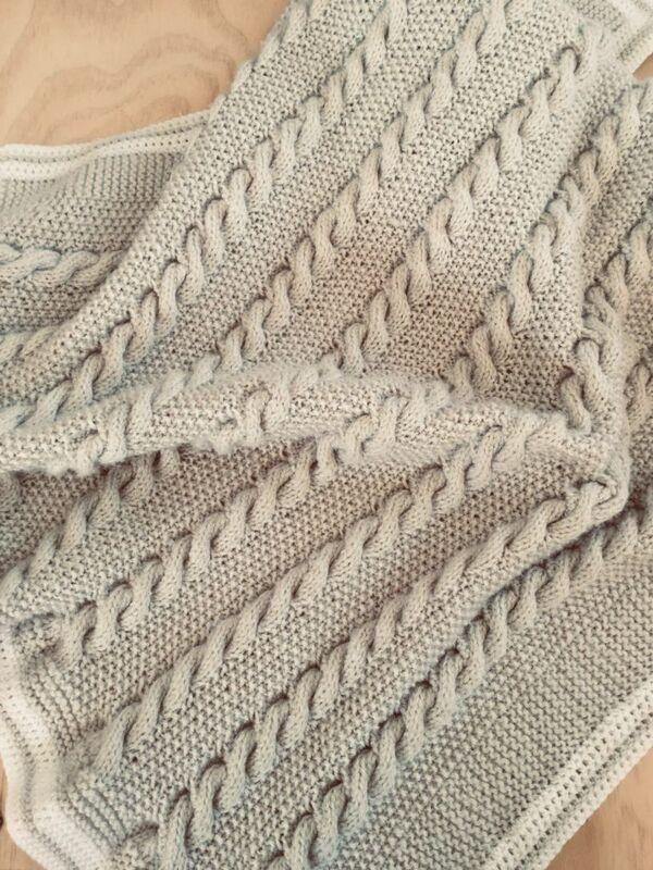 colchas tejidas a palitos para bebes