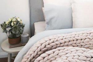 Mantas de lana tejidas a mano tamaño 2L