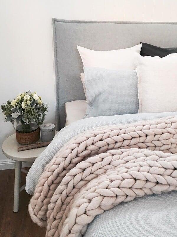 mantas de lana tejidas a mano XXL