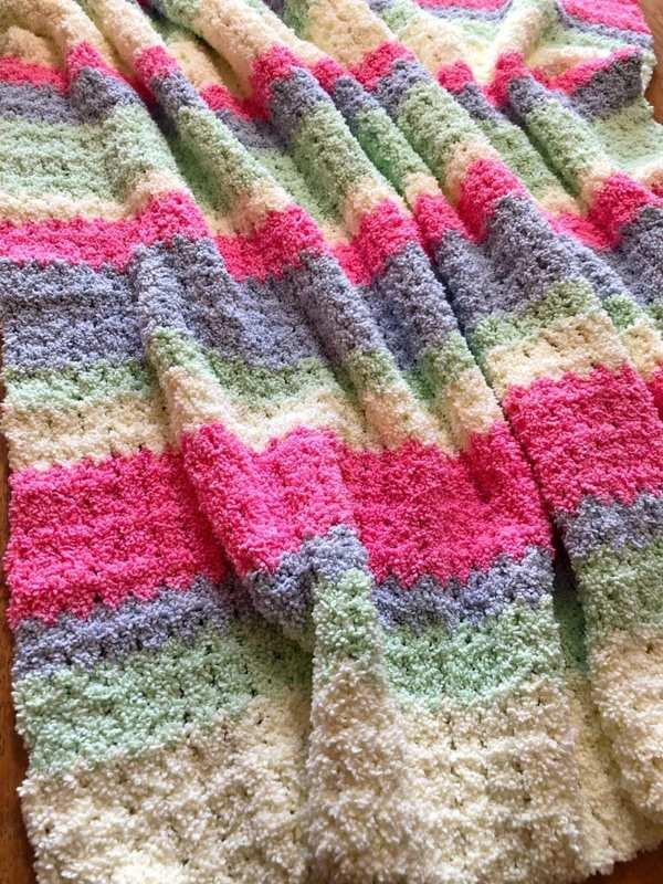 mantas de crochet modernas