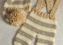 Pantalones de bebe tejidos para 6 meses