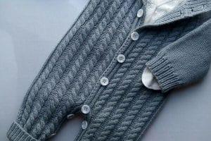 Pantalones tejidos para niños de 2 años