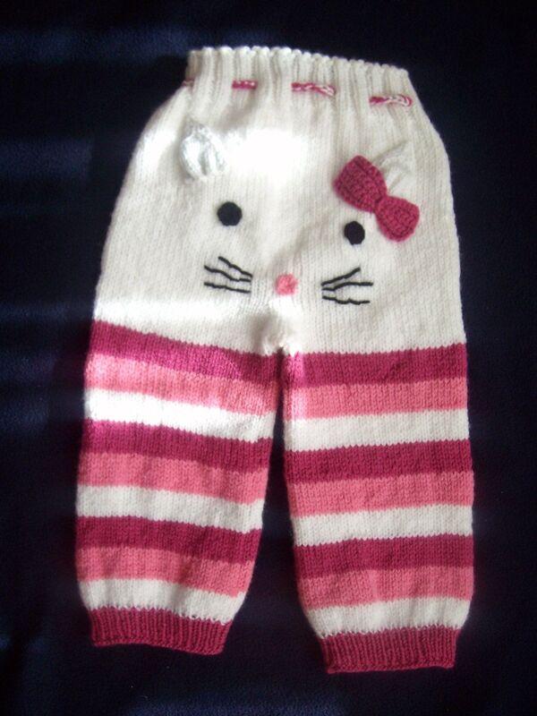 pantalones tejidos a crochet para niñas