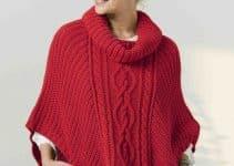 2 ideas de ponchos tejidos a palitos