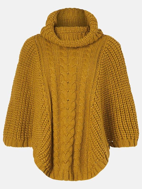 Ponchos tejidos a palitos con capuchas