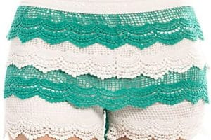 Shorts tejidos en crochet talla 9 a 11