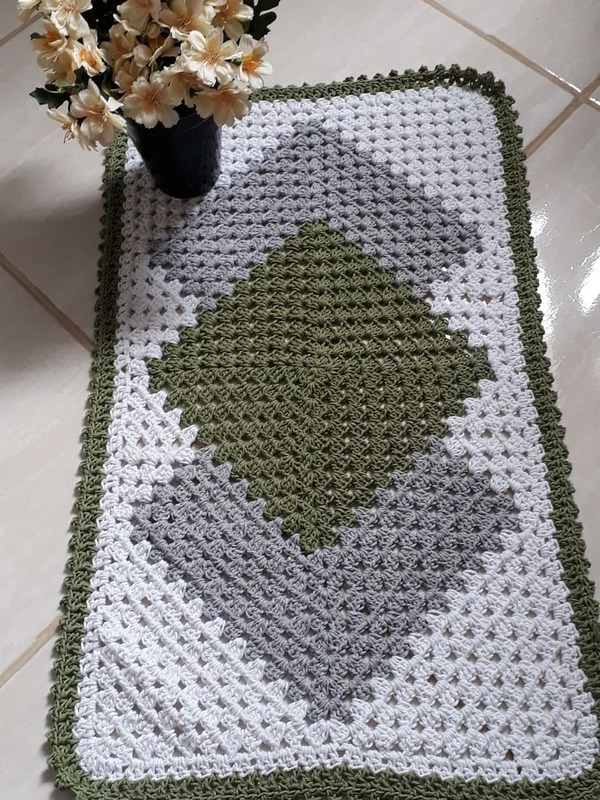 Tapetes rectangulares a crochet con patrones