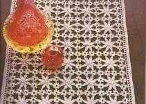 Tapetes rectangulares a crochet con patrones de 20 x 60 cm