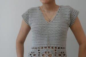 Top de verano a crochet talla 9
