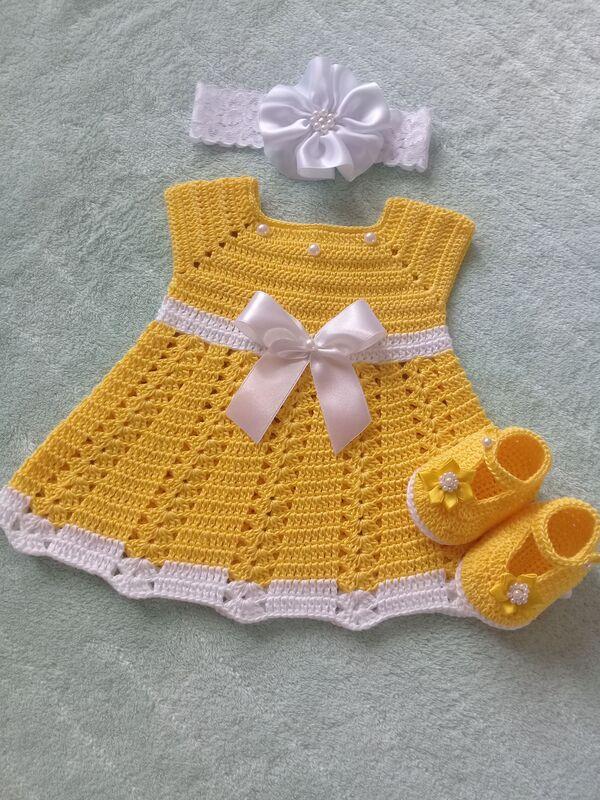 vestidos para bebe a crochet